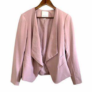 Mercer & Madison Pink Open Front Crepe Blazer